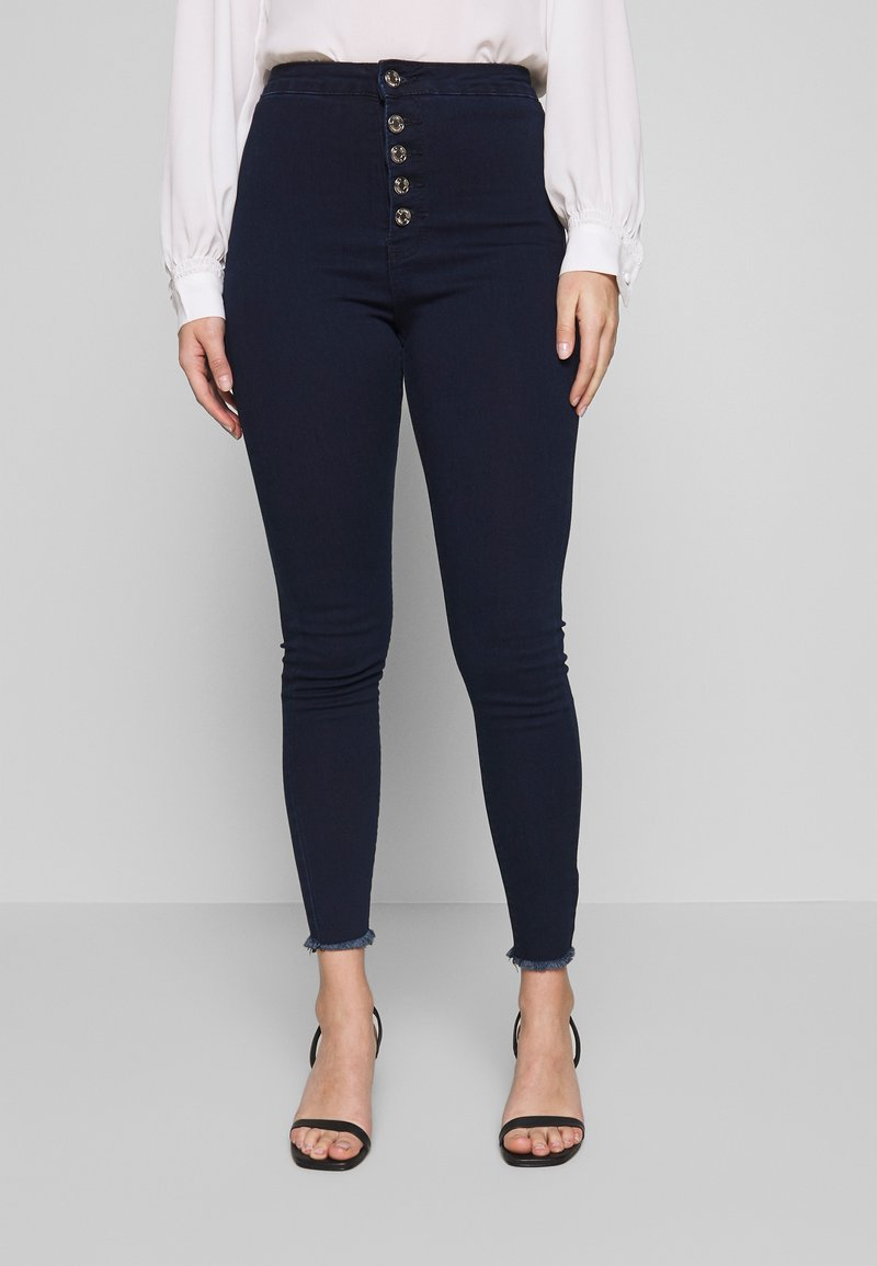 Missguided Petite - VICE BUTTON UP JEAN - Jeans Skinny Fit - blue