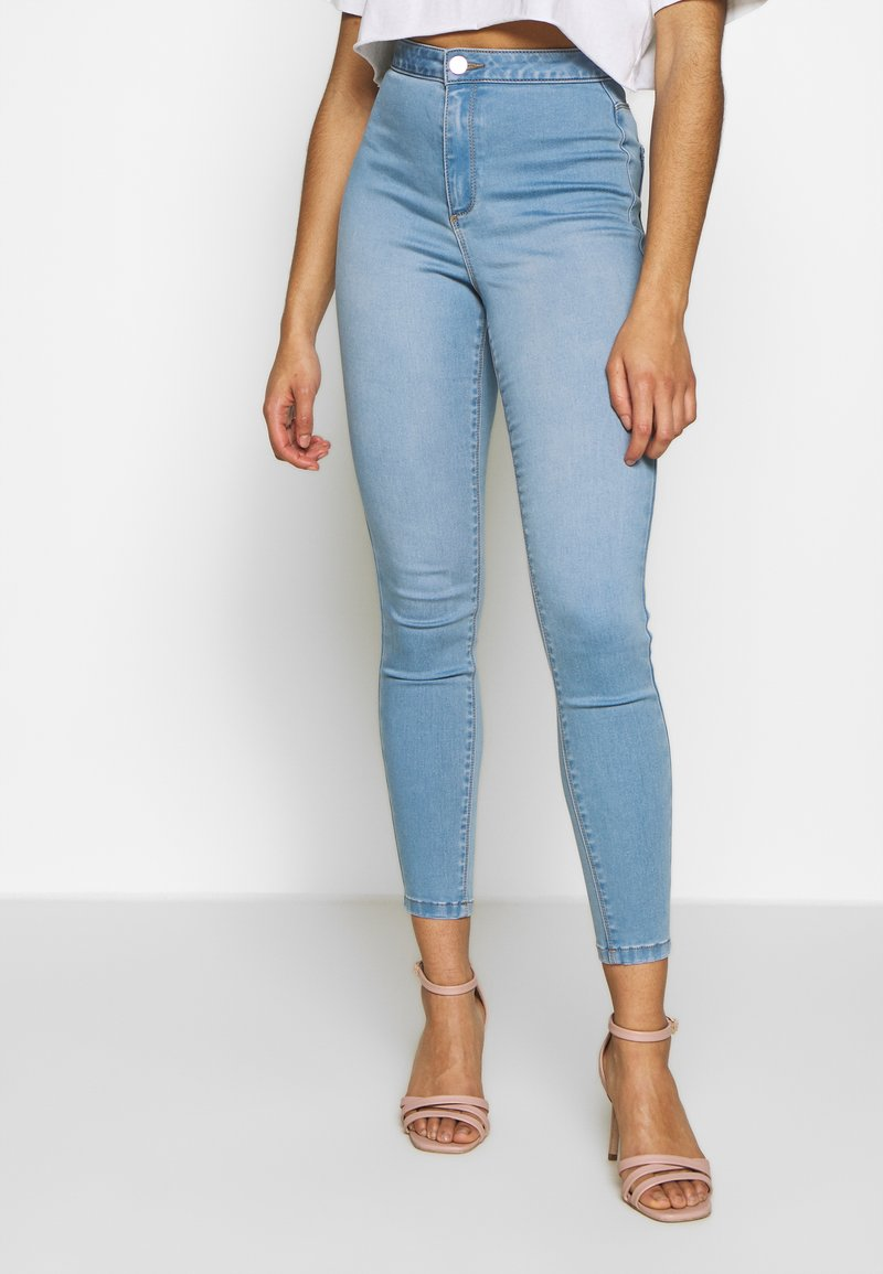 Missguided Petite - VICE HIGH WAISTED - Jeans Skinny Fit - stonewash