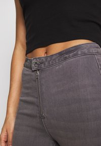 Missguided Petite - VICE EXPOSED ZIP BUTTON DETAIL  - Jeans Skinny - grey - 4