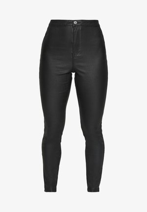 VICE HIGH WAISTED COATED  - Jeans Skinny Fit - black