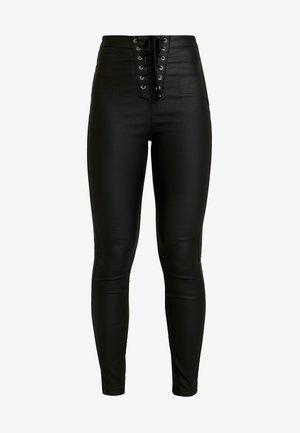 VICE COATED  - Bukse - black