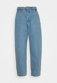 Missguided Petite - SLOUCH HIGHWAISTED PLEAT DETAIL - Jeans baggy - light blue - 0