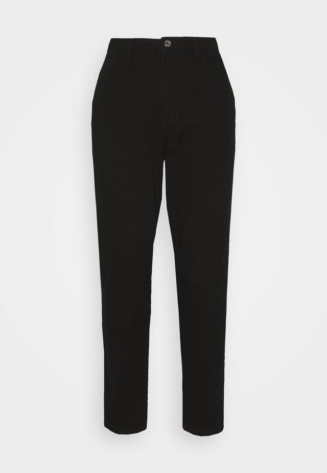 RIOT HIGHWAIST PLAIN MOM JEANS - Jeans Skinny Fit - black
