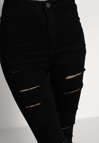 Missguided Petite - VICE HIGH WAISTED - Skinny džíny - black - 4