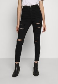 Missguided Petite - VICE HIGH WAISTED - Skinny džíny - black - 0