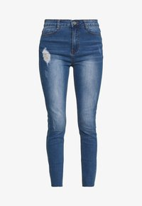 Missguided Petite - SINNER CLEAN DISTRESS - Jeans Skinny Fit - blue - 3