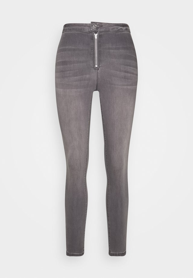 VICE HIGHWAISTED WITHZIP FLY - Jeansy Skinny Fit - grey