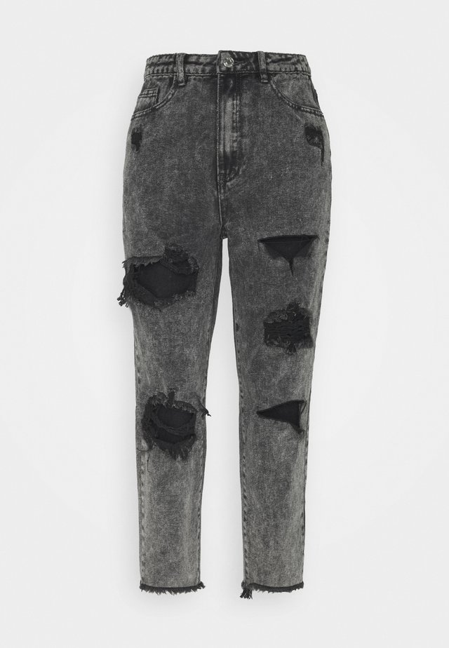 RIOT HIGH RISE RIPPED MOM AUTHENTIC - Jeansy Relaxed Fit - grey