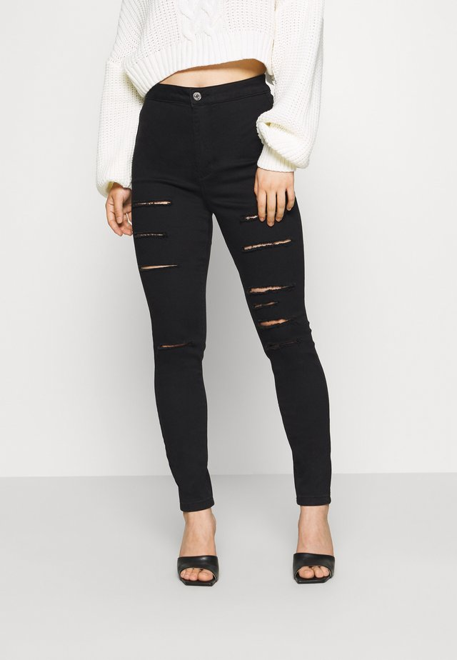 VICE MULTI HIGH WAISTED  - Skinny džíny - black