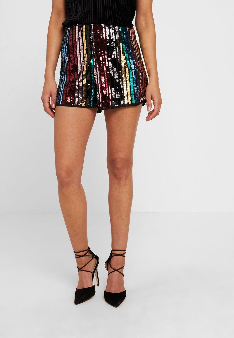 Missguided Petite - SEQUIN STRIPE - Shorts - black