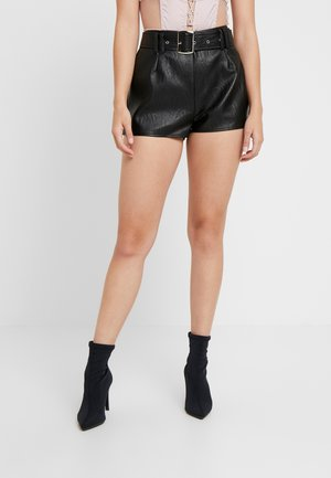 BUCKLE DETAIL - Shorts - black