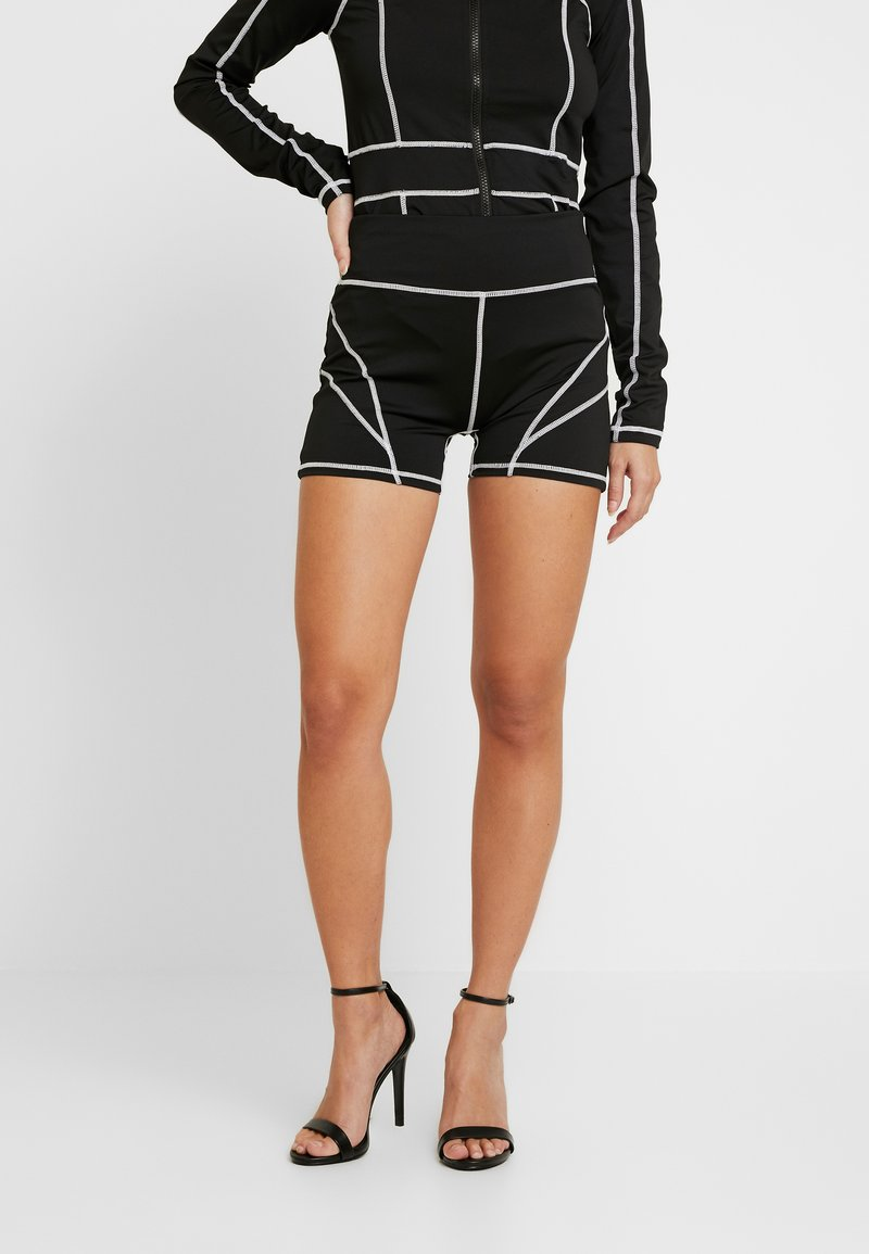 Missguided Petite - PANEL CYCLING - Shorts - black