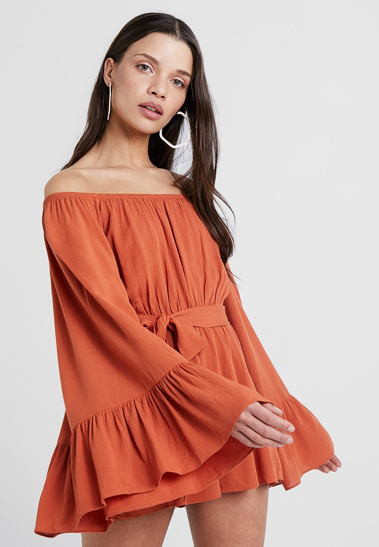 Missguided Petite - FLARED SLEEVE  - Overal - rust