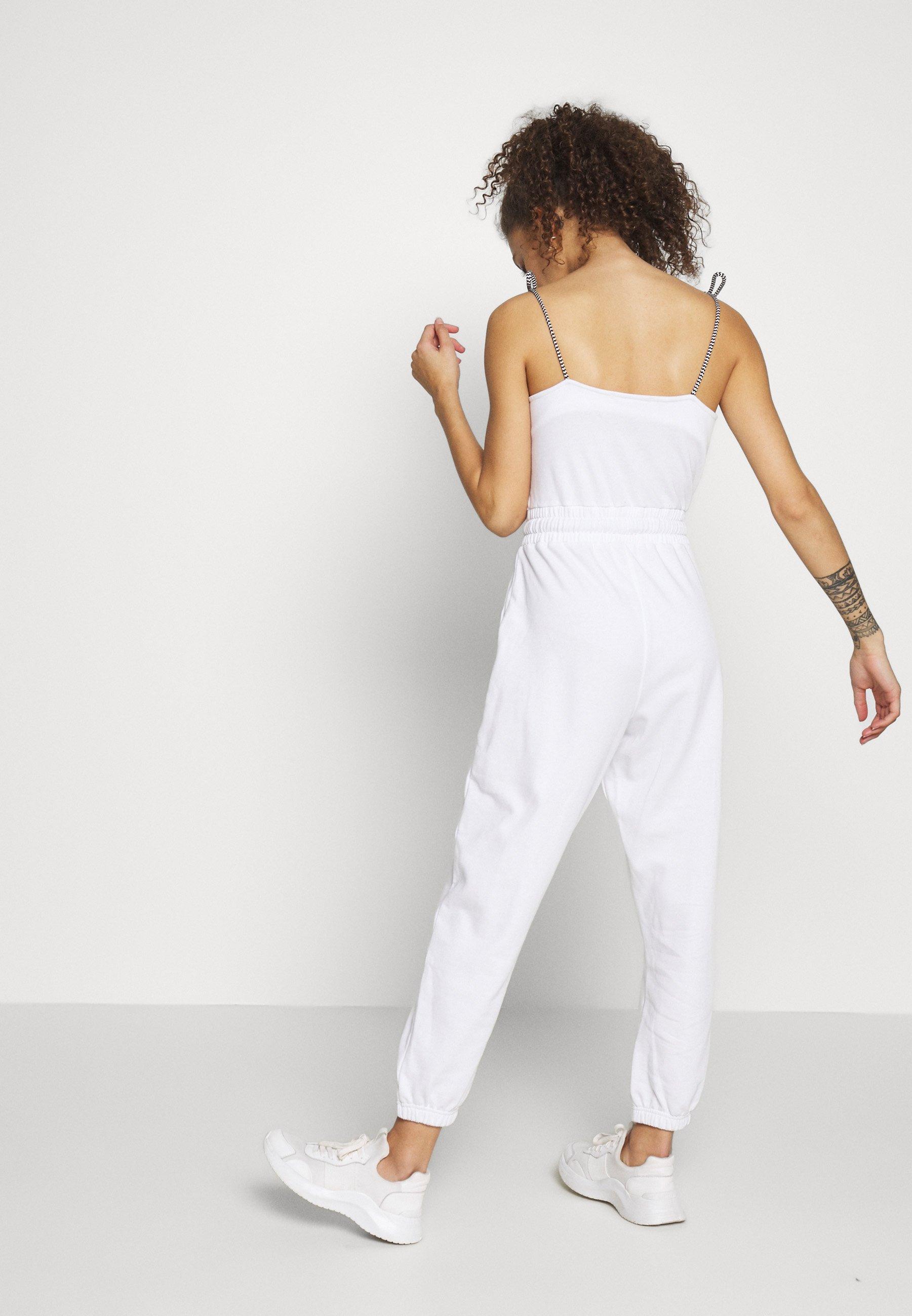Missguided Petite TIE STRAP - Kombinezon - white