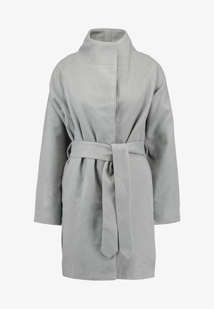 HOODED CHUCK ON BELTED COAT - Abrigo - grey