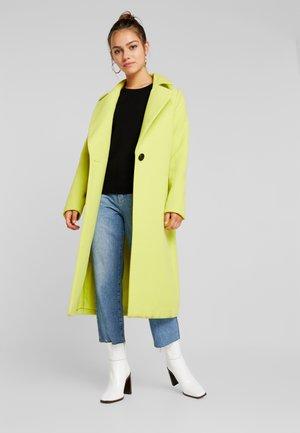 SINGLE BUTTON FRONT COAT - Mantel - neon lime