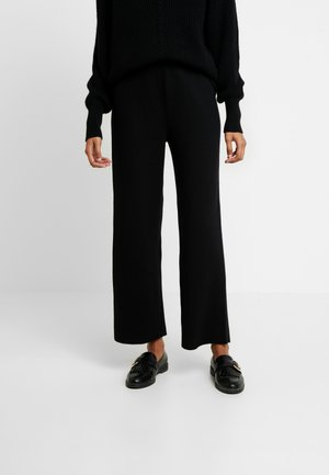 EIJA LIKE ANKLE PANTS - Tygbyxor - black