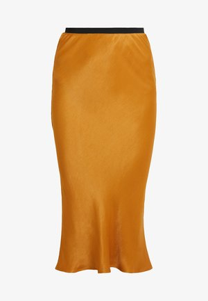 OPAL SKIRT SOLID COLOR - Maxirock - golden brown