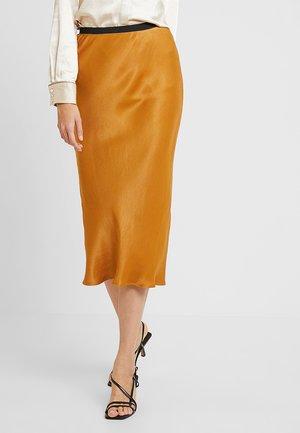 OPAL SKIRT SOLID COLOR - Maksihame - golden brown