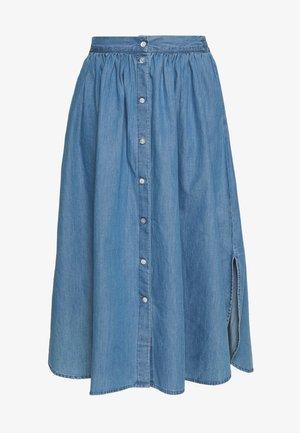 LYANNA SKIRT - Spódnica trapezowa - mid blue wash