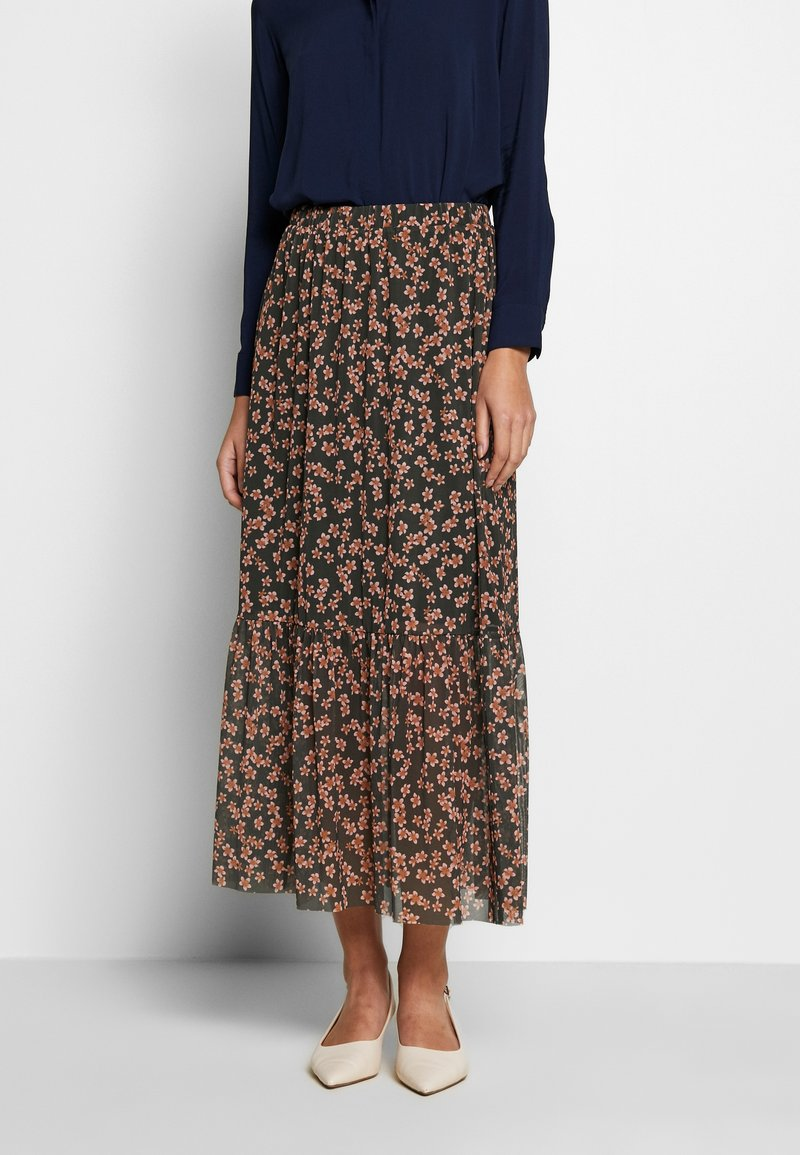 Moss Copenhagen - HAILY LONG SKIRT - Gonna a campana - rosin flower