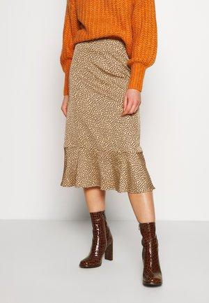 ELLANORA SKIRT - Áčková sukně - beige