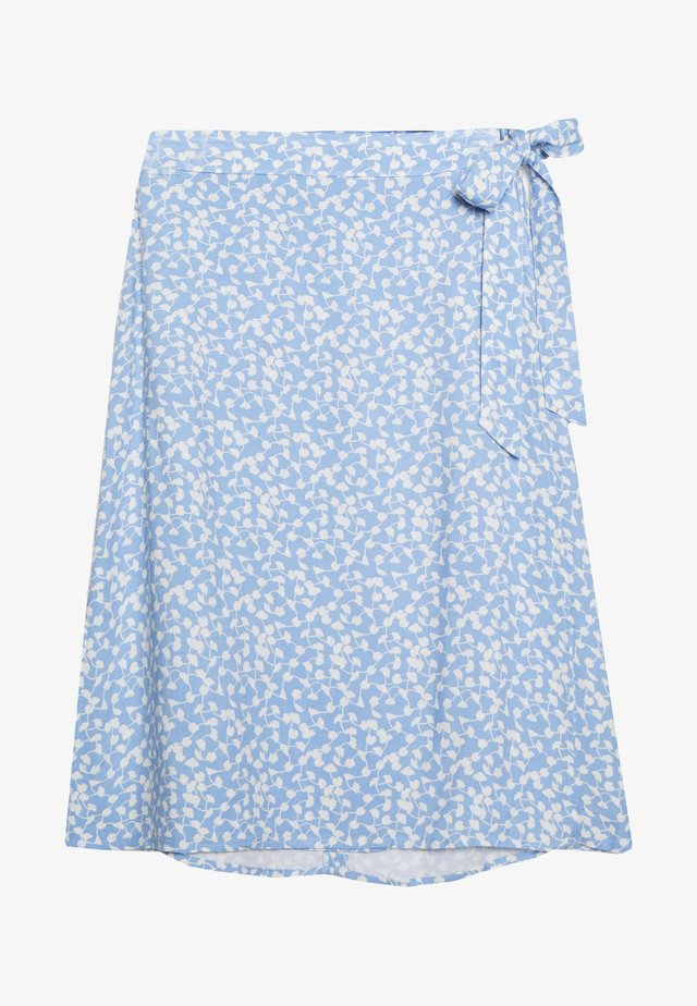 ELLIANE LEIA WRAP SKIRT - A-line skirt - blue