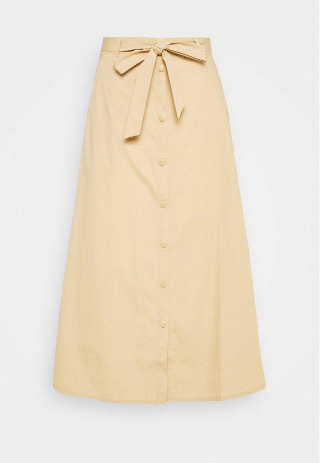 CHARLIE MIDI SKIRT - A-line skirt - croissant