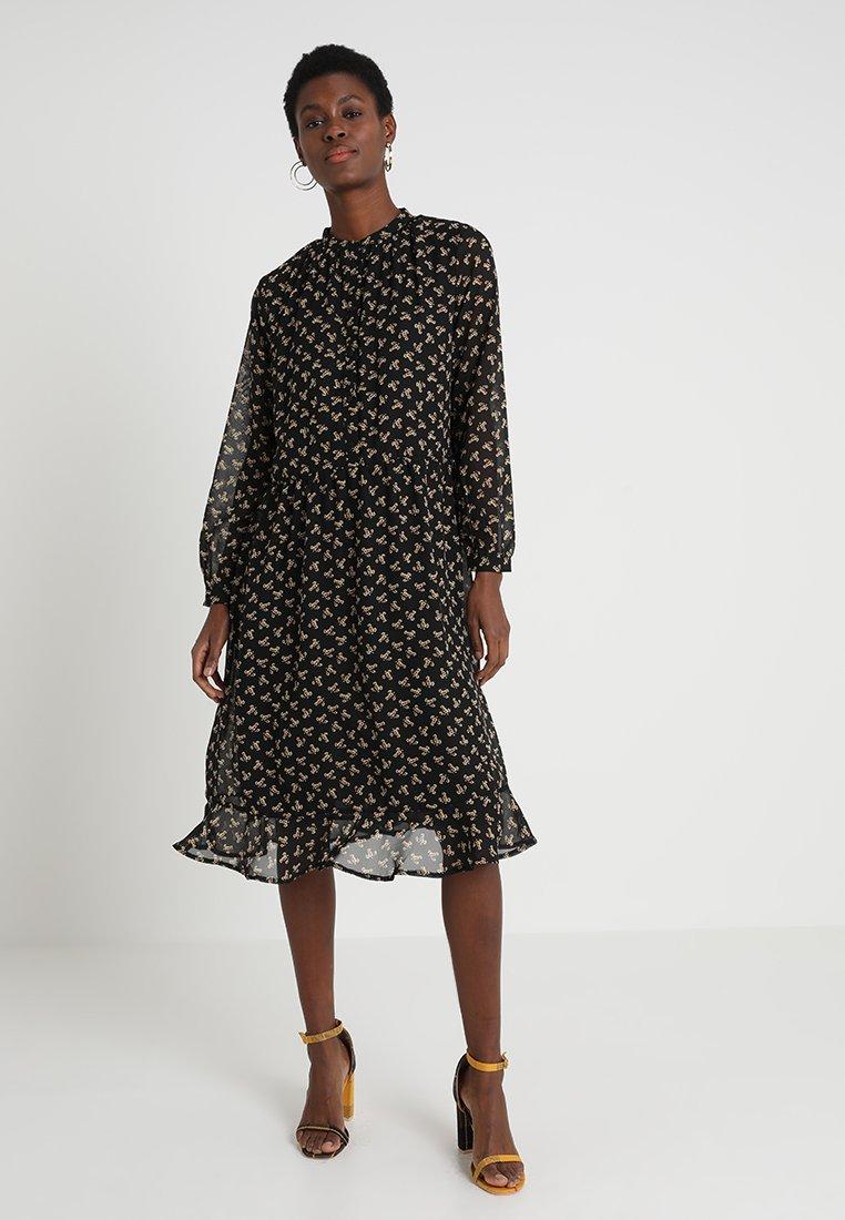 Moss Copenhagen - ALLIE  DRESS - Skjortekjole - black