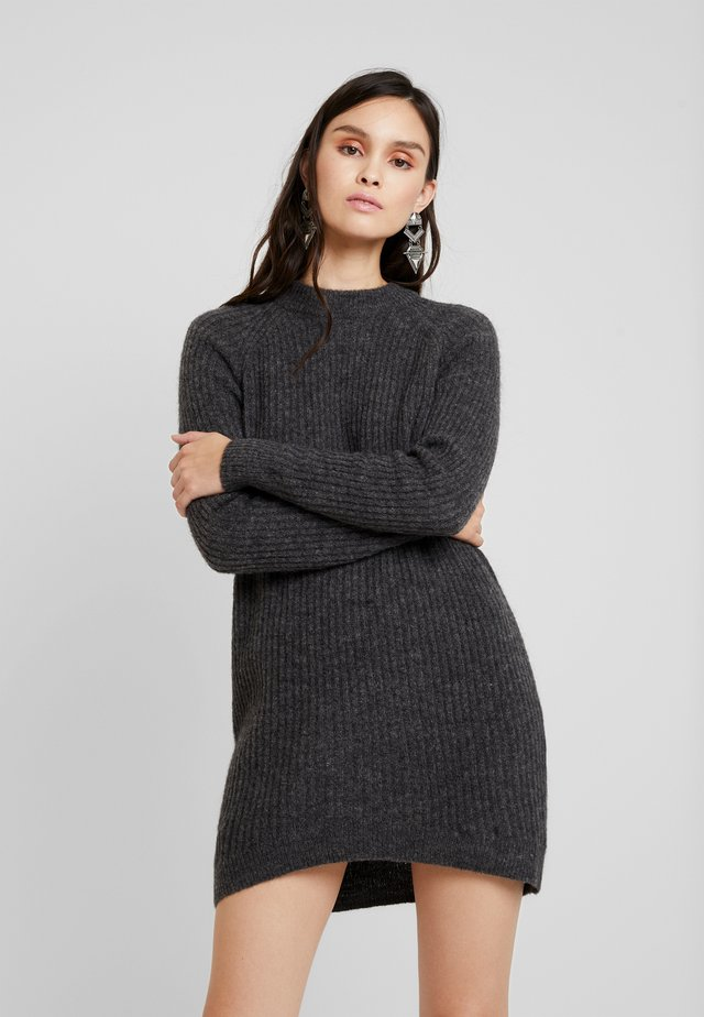 ELLEN - Strickkleid - dark grey melange