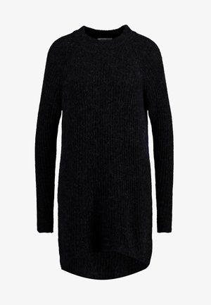 ELLEN - Stickad klänning - black