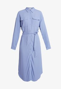Moss Copenhagen - IDINA GENNI DRESS - Skjortekjole - colony blue - 4