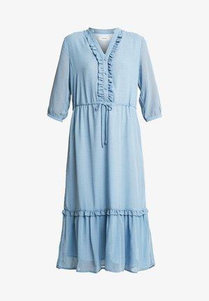 EVALINE 3/4 DRESS - Korte jurk - blue
