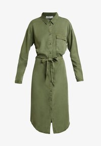 Moss Copenhagen - ROSANNA DRESS - Shirt dress - lichen green - 5