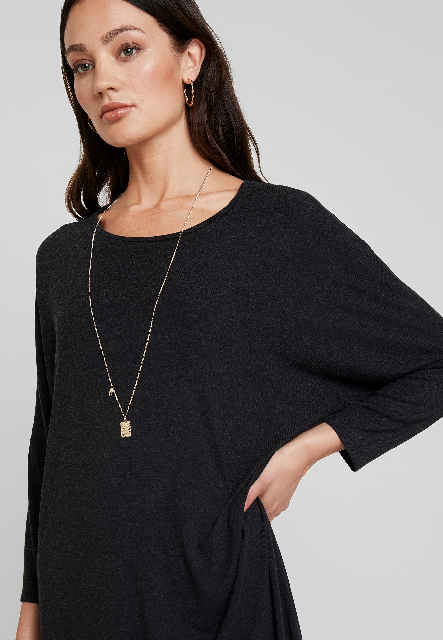 Moss Copenhagen Tilde Dress - Jerseyklänning Mottled Dark Grey