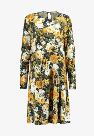 MONICA LEIA DRESS - Robe d'été - black/yellow/white