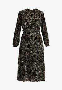 Moss Copenhagen - AUDRINA DRESS - Skjortekjole - black/yellow - 5