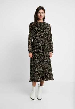 AUDRINA DRESS - Shirt dress - black/yellow