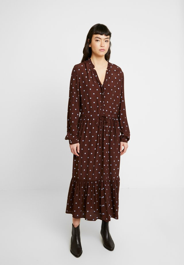 RYLIE MOROCCO DRESS - Korte jurk - dark brown