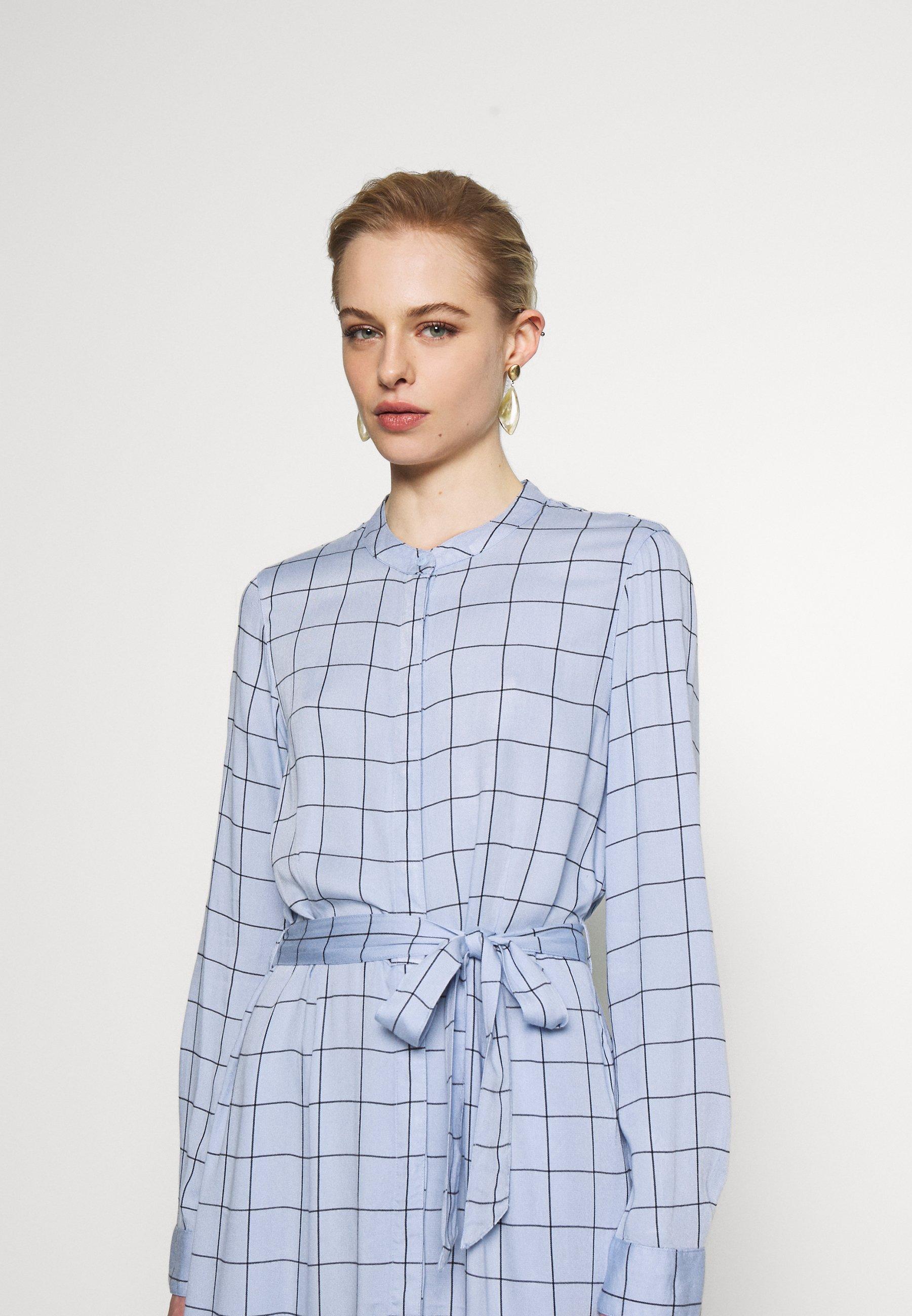 Moss Copenhagen Meline Alana Dress - Skjortklänning Light Blue TzQx5VO