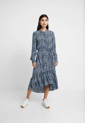CELINA MOROCCO MIDI DRESS - Robe chemise - blue
