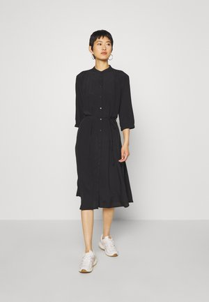 BENEDICTE MELODY 3/4 DRESS - Shirt dress - black