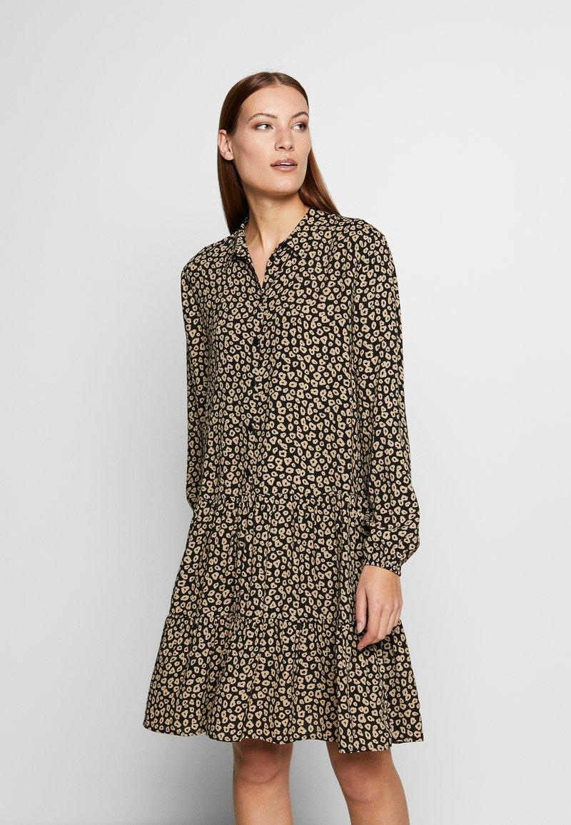 Moss Copenhagen - CAMINA  DRESS - Day dress - black leo