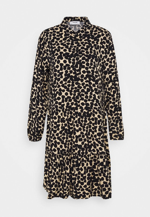 LAURALEE RAYE DRESS - Shirt dress - brown / black