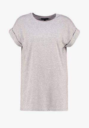ALVA PLAIN TEE - Camiseta básica - light grey melange