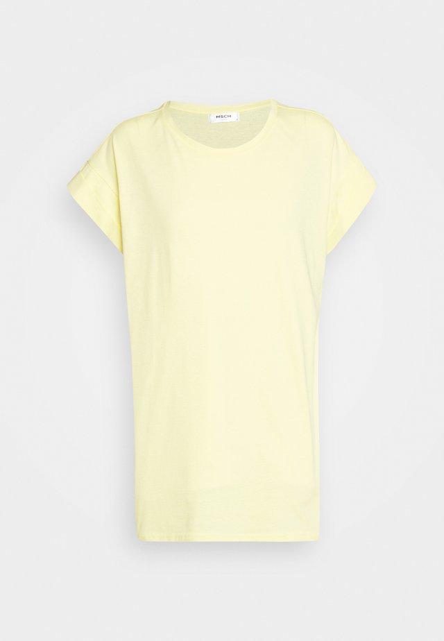 ALVA PLAIN TEE - Basic T-shirt - pale banana
