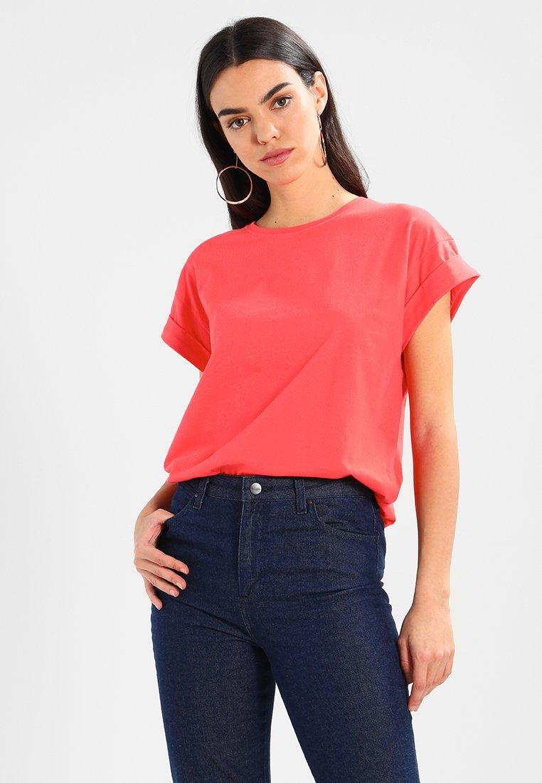 Moss Copenhagen - ALVA PLAIN TEE - T-Shirt basic - cayenne
