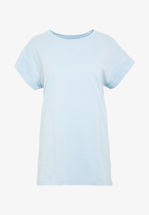 ALVA PLAIN TEE - T-shirts - cashmere blue