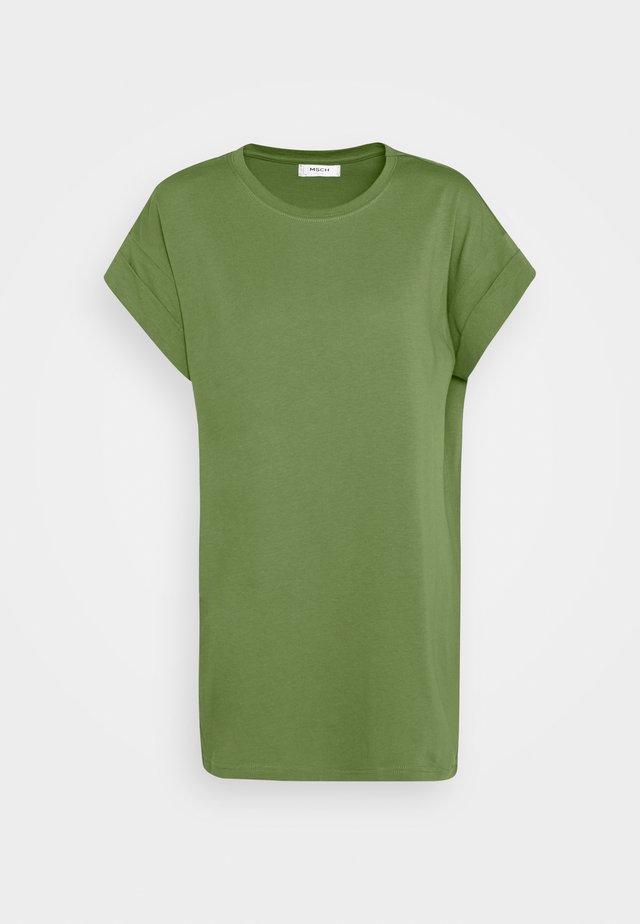 ALVA PLAIN TEE - T-Shirt basic - evergreen