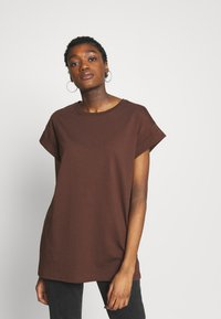 Moss Copenhagen - ALVA PLAIN TEE - Basic T-shirt - coffee - 0